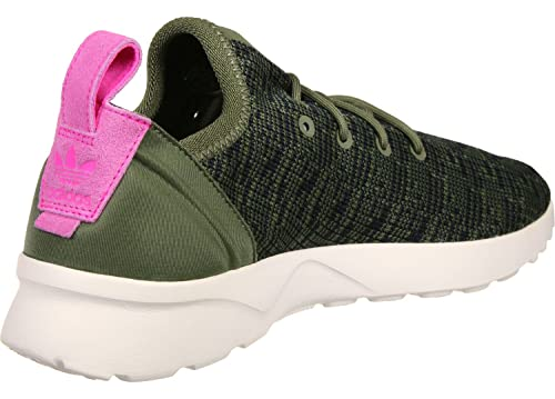 best authentic 85eed 9a050 adidas Zx Flux Adv Virtue Trainers Khaki: Amazon.co.uk ...