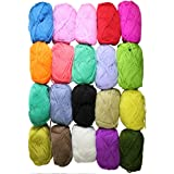 New Double Knit Knitting Fashion Acrylic Yarn Wool Variety Pack 20 x 25g Balls - Assorted Mixed Colours by Curtzy TM