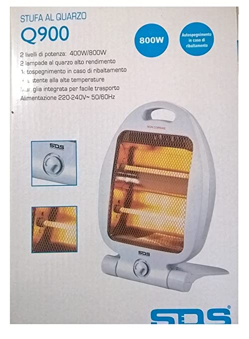 Estufa eléctrica de cuarzo 800 W Calefactor