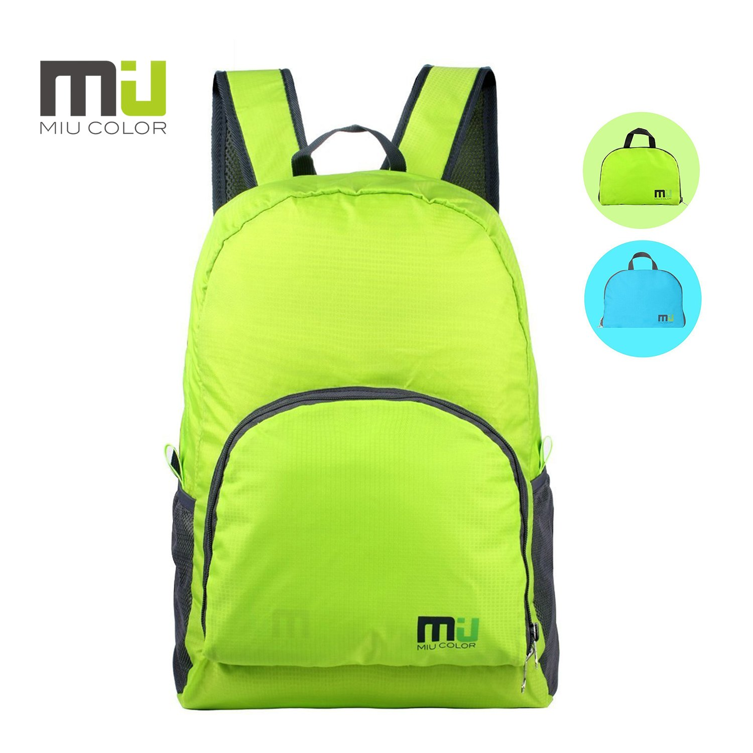 11c21df798 MIU COLOR® Durable Foldable Lightweight Daypack Backpack