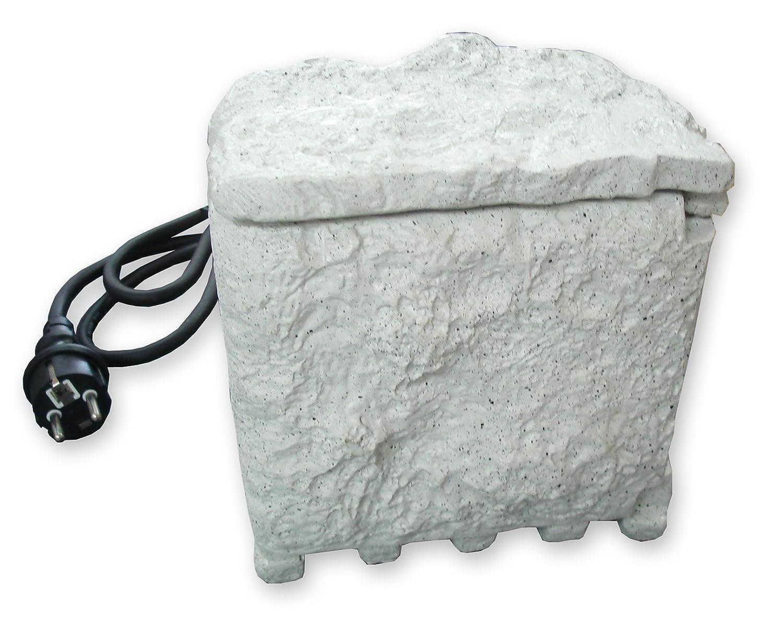 Zenitech - Bloc pierre 4 prises 16A 2 P+T étanche IP44 sans programmateur + câble H07RN-F 3G1.5mm² - LG 1,5m - matière résine