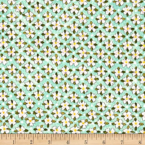 Riverwoods Collection Riverwoods Glamping Gypsies Floral Blue Fabric by The ()