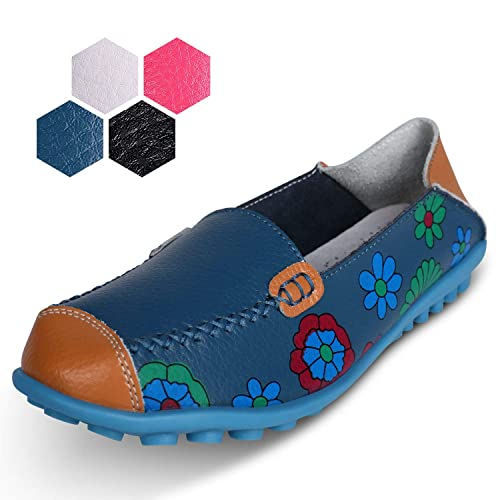 dd8a4ae0455 labato Women s Leather Loafers Stylish Slip on Moccasin Shoes Outdoor for  Walking Driving. 3.8 out of 5 ...