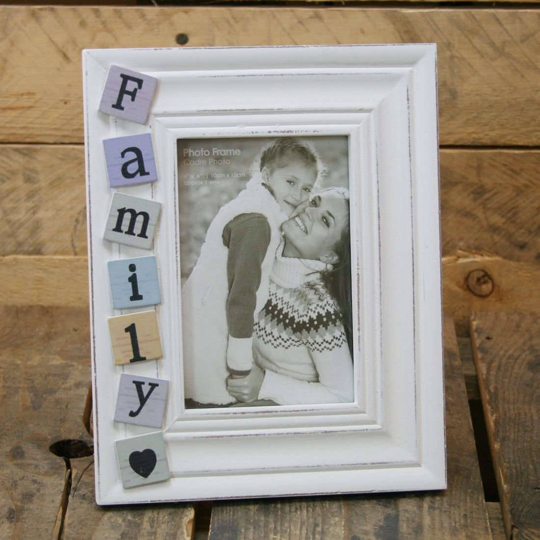 Amazon.de: 4 X 6, Shabby Chic, White Washed Fliesen Family ...