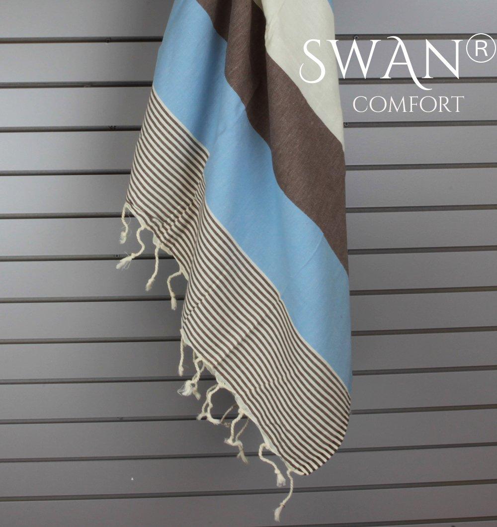Amazon.com: Swan Comfort 100% Natural Turkish Cotton Absorbent Beach ...