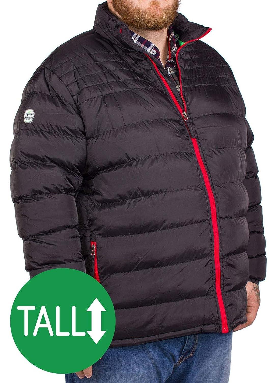 Big Mens D555 Edmond Puffer Jacket Black Tall