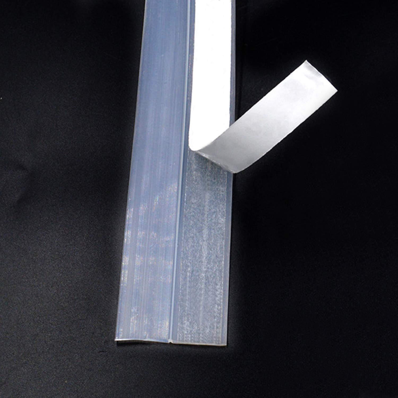 Migavan Tira de Sellado Junta 16 pies 35 mm Puerta Barril de tiro Barrido Sellado Adhesivo de Silicona Tira Burlete para la puerta inferior Sello Interior Blanco