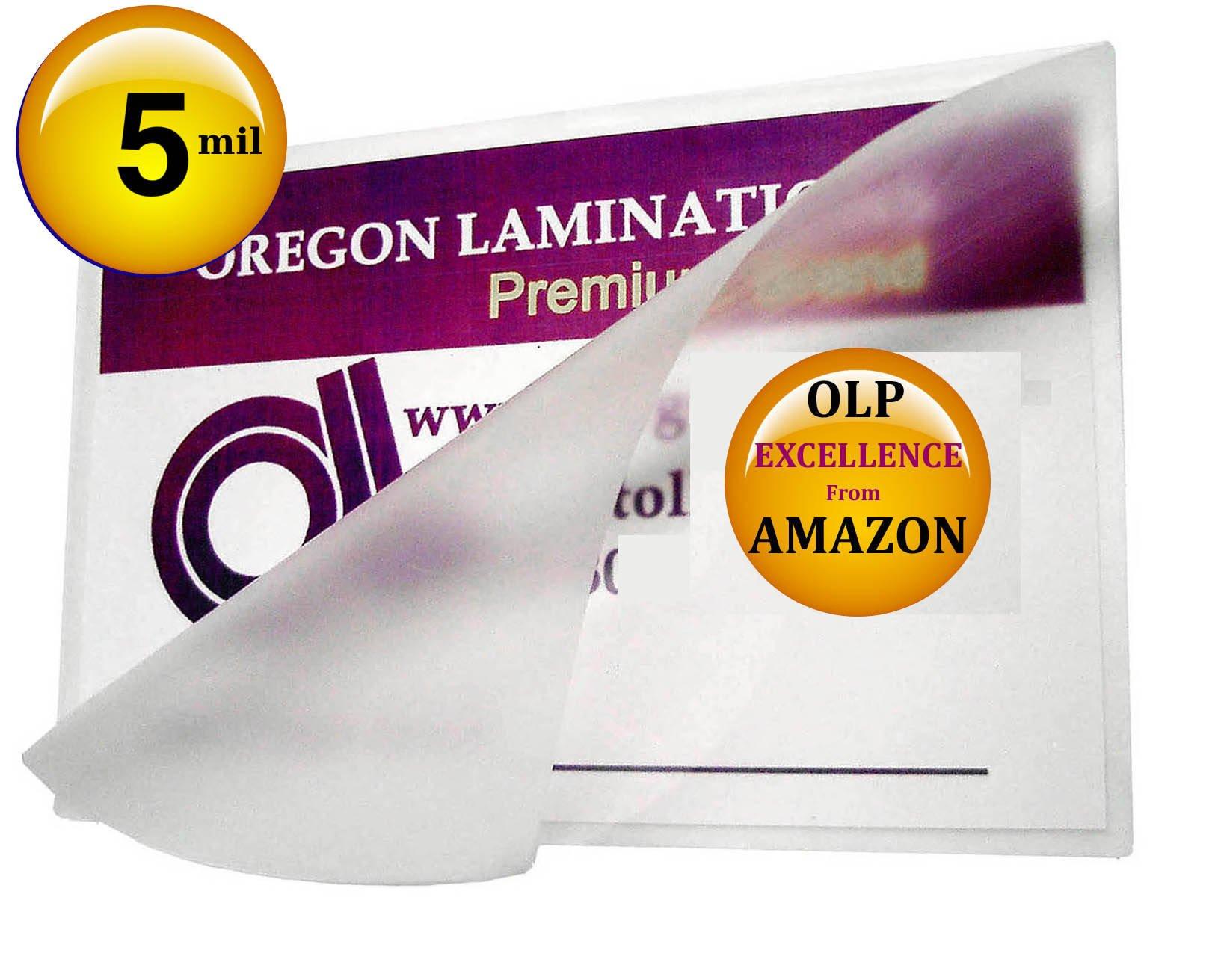 Qty 500 Mini Menu Laminating Pouches 11-1/4 x 17-1/4 Hot Laminator Sleeves 5 Mil