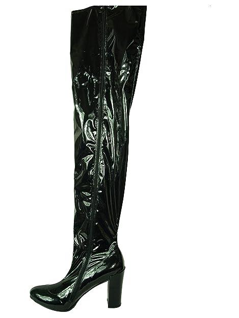 Bolingier 47 Stiefel 37 Heel Poland Overknee 11cm Lack High Size Y6gyfb7