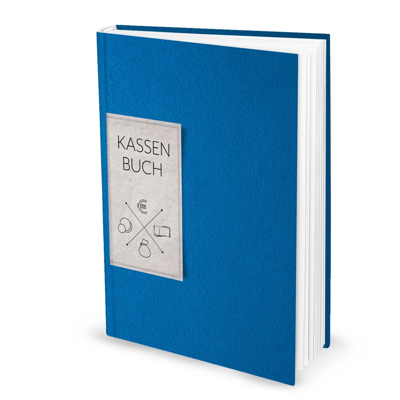ordnung gemaesses registro DIN A4(Hard Cover) in blu per bar pagamenti per facilitare l' Finanza e denaro di entrate e spese; 148pagine; ideale anche come regalo. 1a qualità Jeanette Dietl