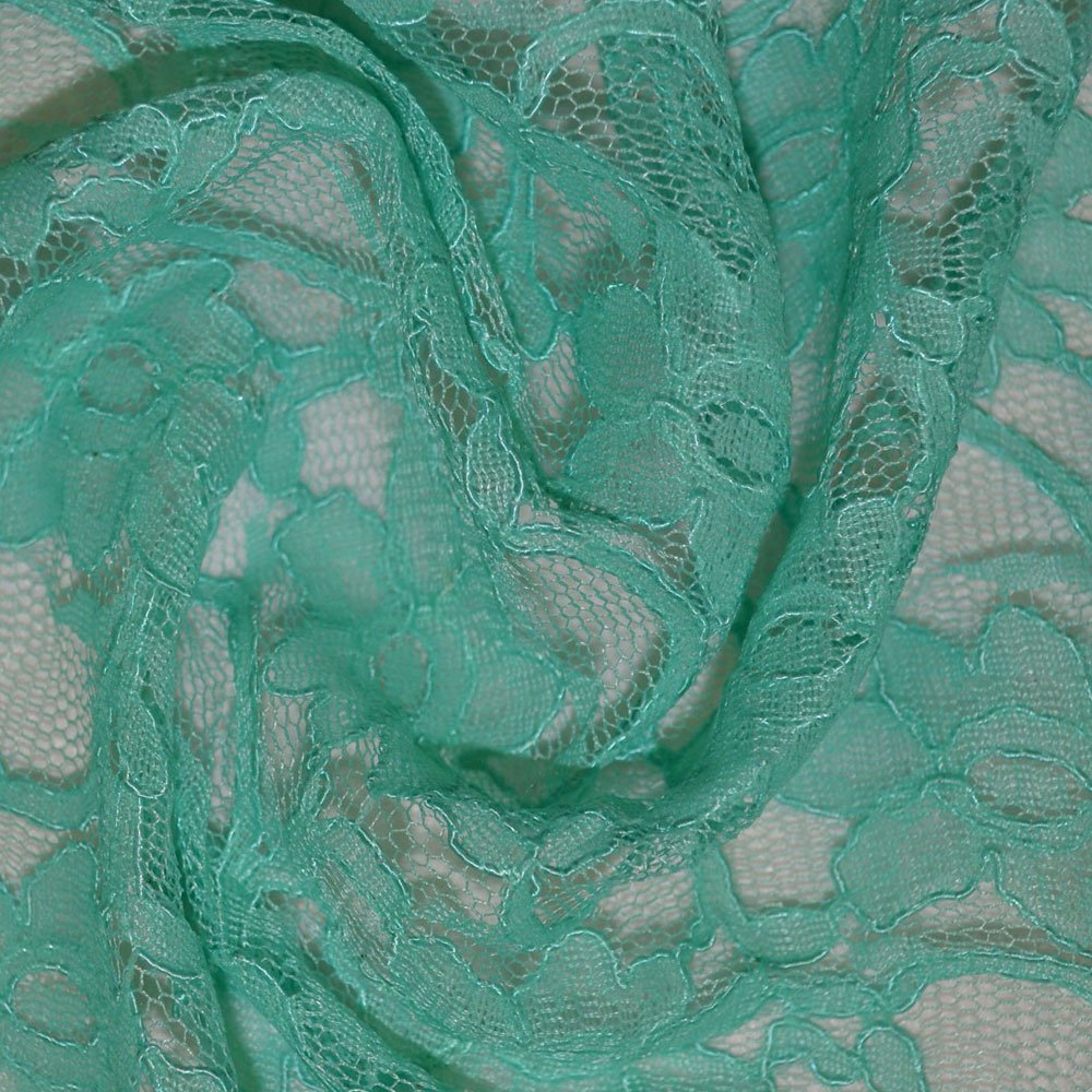 Spearmint Heavy Corded Lace Fabric 8866 (Col 9) SKU006546