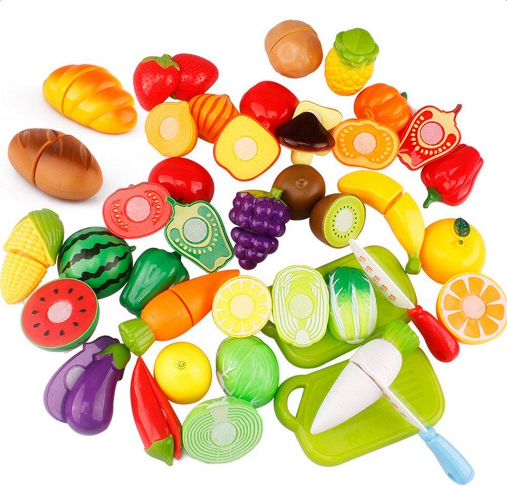 Skyeye 12pcs Juguetes de Cocina Cortar Frutas Verduras Juego de Pl/ástico Juguetes Alimentos de Corte Juguete del para Ni/ños