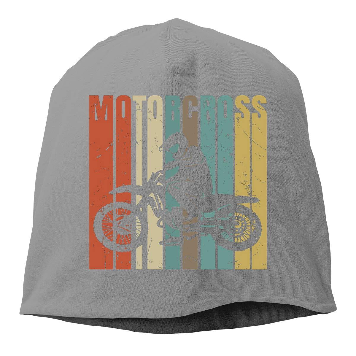 QKQ77 KK7 Retro Motocross Dirt Bike Hedging Hat Unisex Skull Hat Knitted Hat Beanie Cap for Autumn//Winter Cap