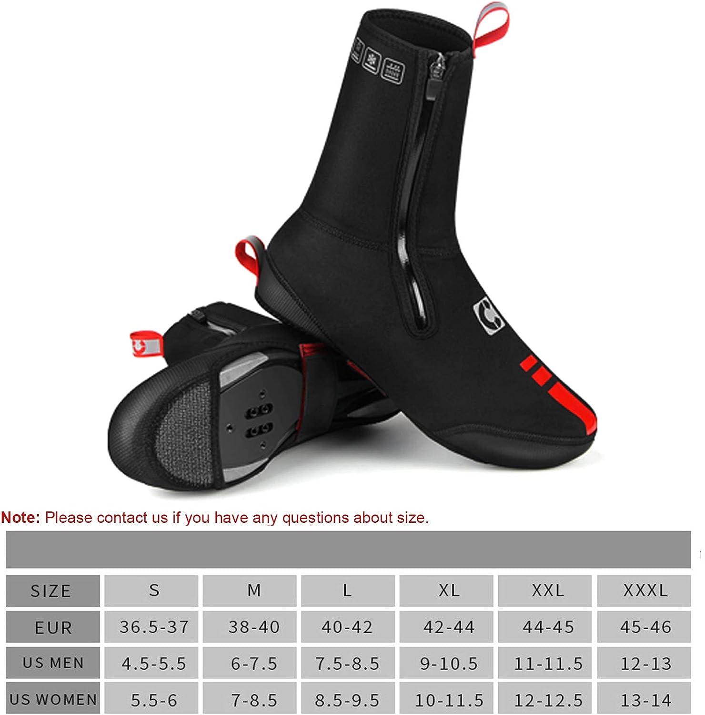 TORRYZA Cycling Shoe Covers for Men Women Neoprene Winter Waterproof Warm Cycling Overshoes Mountain Road Bike Windproof Shoe Covers