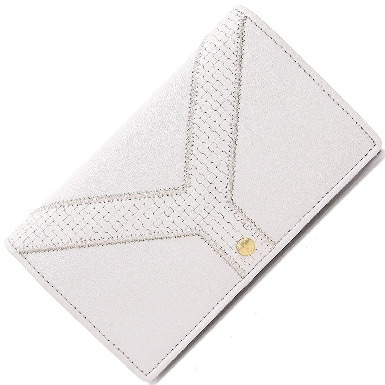 イブサンローラン 二つ折り財布 オフホワイト レザー 中古 革 白 ウォレット ロゴ コンパクト Yves Saint Laurent [並行輸入品] B078T4VHFP