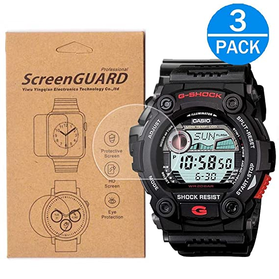 2daf2319bab8 Amazon.com   3-Pack  For Casio G-7900  GW-7900 Screen Protector