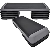 Aerobic Step - 110cm*40cm Cardio Exercise Stepper - 8 Risers Stepper - Home Gyms and Fitness Training