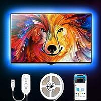 Govee 2m led strip, led tv-achtergrondverlichting, geschikt voor 40-60 inch tv's en pc's, app-bediening, RGB, USB…