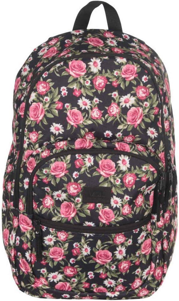 Vans Large School Laptop Backpack Canvas Rose print