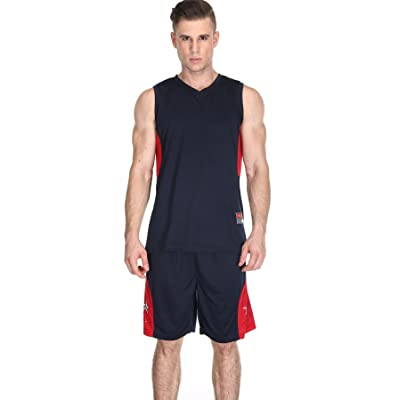 Men's Basketball Shorts and Jersey Basketball Uniform for Men Workout Running Gym Shorts Set Quick Dry Breathable Sport Wear