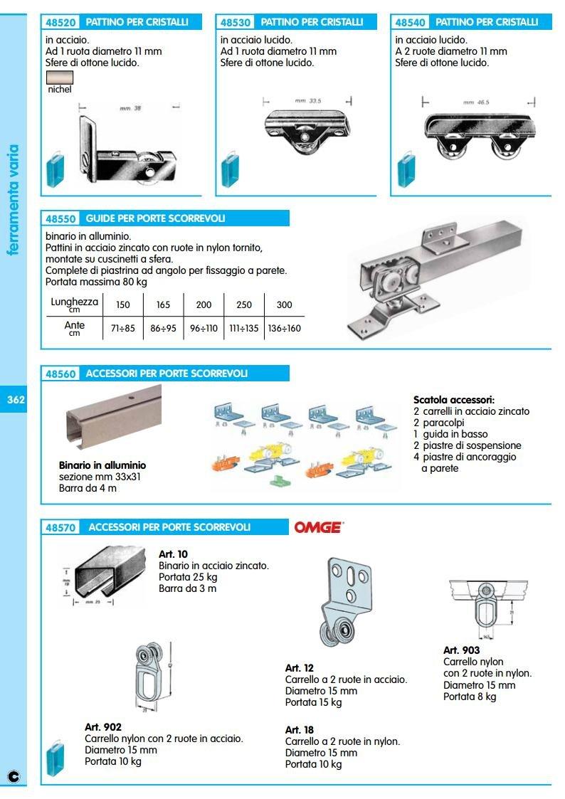 1pz guide in alluminio x porte scorrevole cm 71 90 amazon it fai