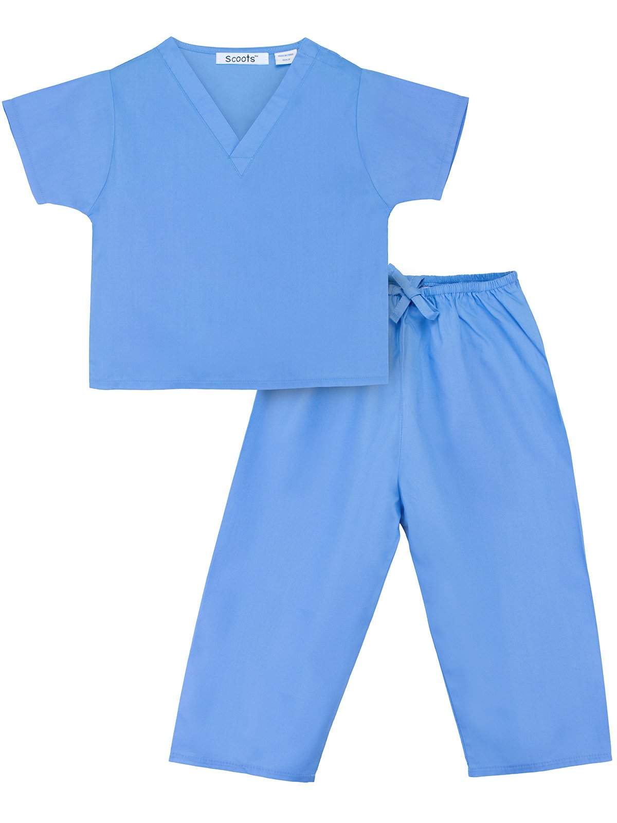 Scoots Toddler Scrubs, Blue, 2T