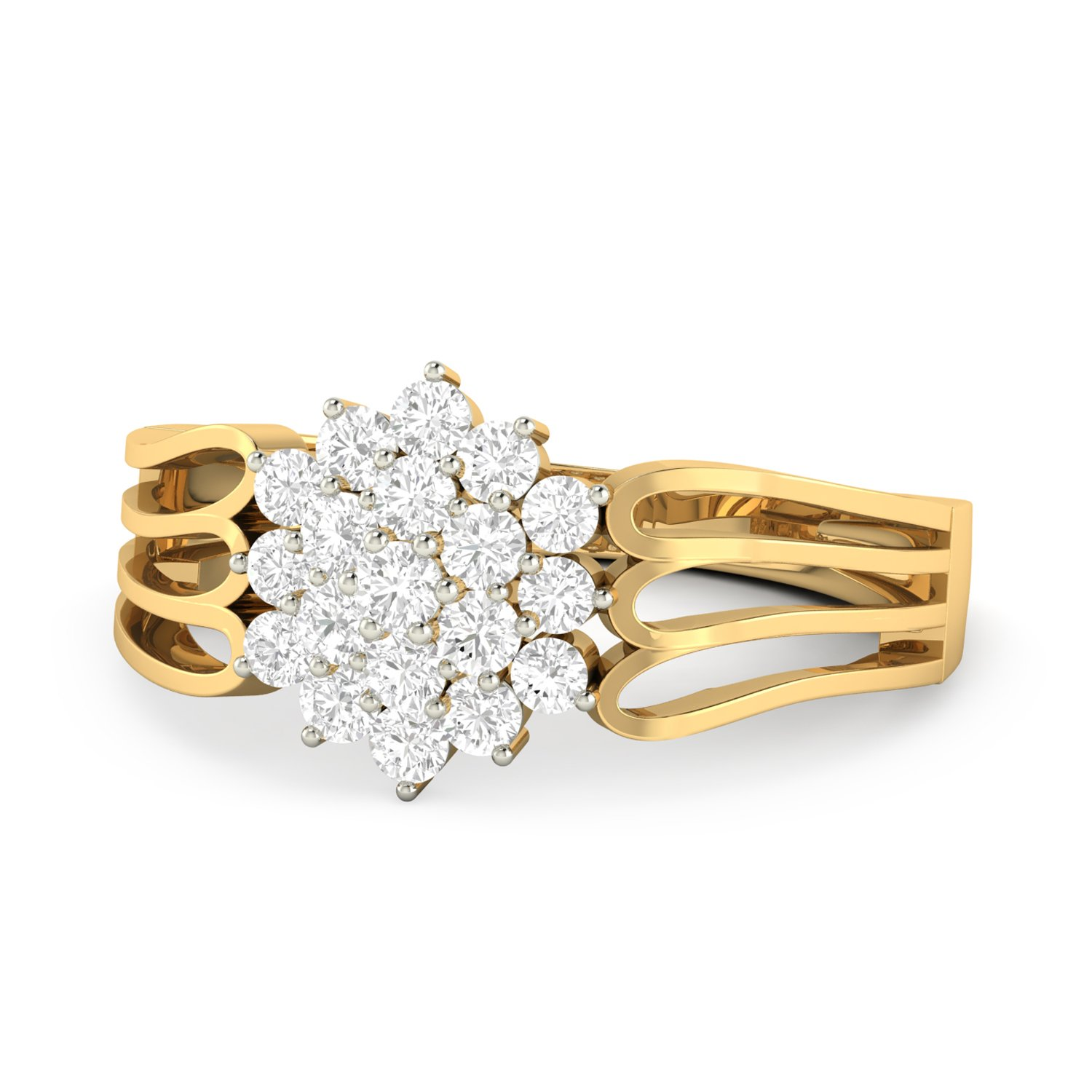 3ac0b25c6 Buy PC Jeweller The Tevy 18KT Yellow Gold & Diamond Rings Online at Low  Prices in India | Amazon Jewellery Store - Amazon.in