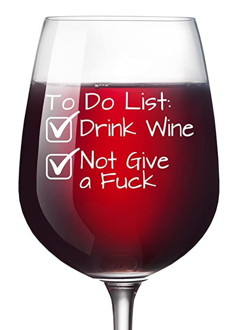 to do list funny wine glass 13 oz retirement party mothers day novelty wine christmas