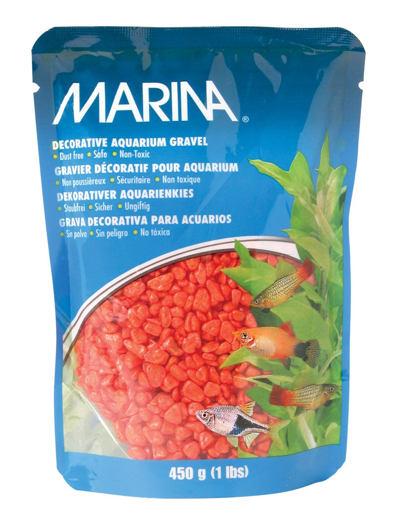 Amazon.com : Marina Decorative Gravel, 1-Pound, Orange : Aquarium ...