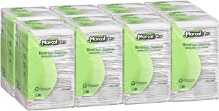 """product image for Marcal Pro Beverage Napkins 100% Recycled Cocktail Napkins 1-Ply, 9.75""""x9.5"""" (WxL) 500 Per Pack - 8 Packs Per Case 00028"""