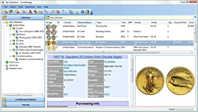 US Coin Collecting Software - Coinmanage USA 2017. Inventory Your Collection. Includes All USA Coins, Mint & Proof Sets + Commemoratives, Mint Products, American Eagles. [Download]