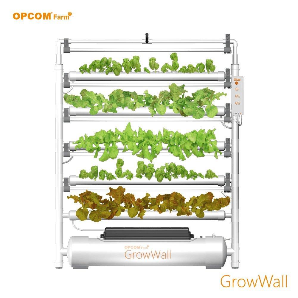 OPCOM Vertical Hydroponic Grow Wall — 75 Grow Sites, 5-Tier Display, Model# OFG003