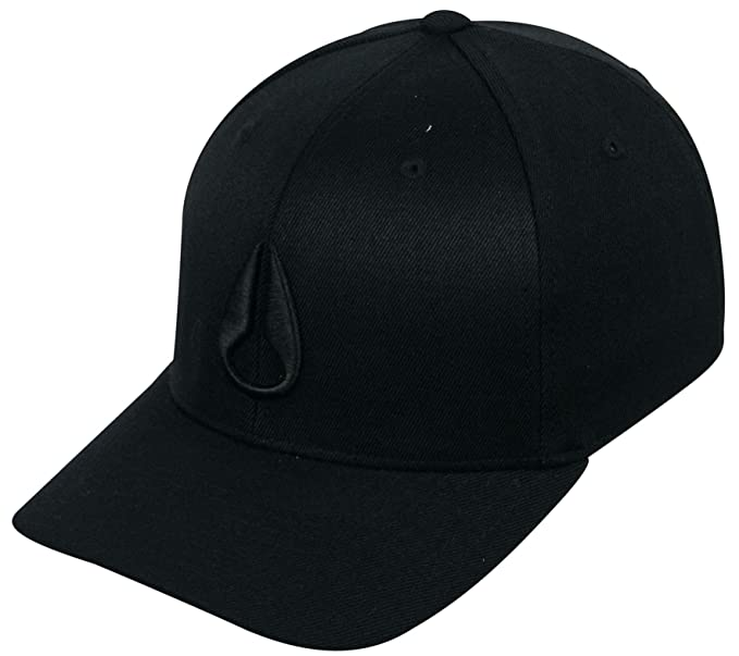 5b00b4b1fbe Amazon.com  Nixon Deep Down Hat - All Black - L XL  Clothing