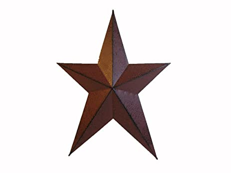 Amazon.com: Craft Outlet Primitive Star Wall Decor, 24-Inch, Red ...