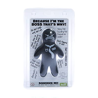 Boxer Gifts 'Stress Boss' Novelty Stress Toy For Adults | Strong Material Perfect For Squeezing and Fidgeting | Gag Office Gift: Home & Kitchen