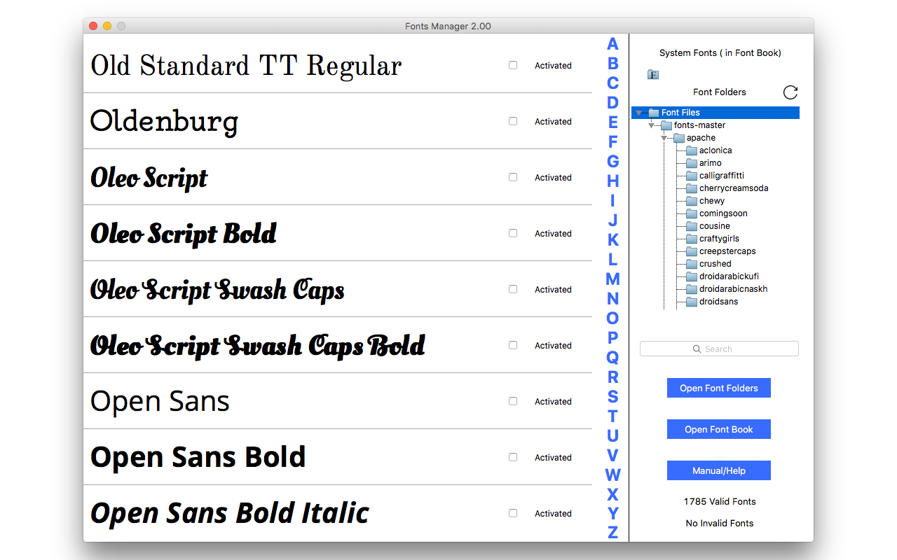 Amazon com: Fonts Manager 3 [Download]: Software