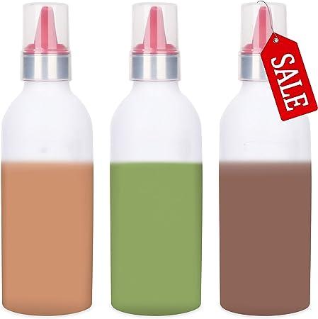 Squeeze botellas botellas de condimento líquido medicina envases, 15 ml, pack de 3: Amazon.es: Hogar