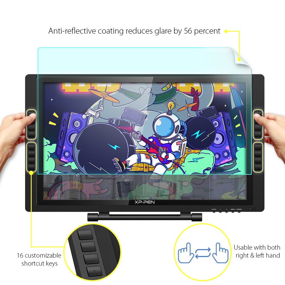 XP-Pen Artist16 Pro 15.6 Inch Drawing Tablet Graphics Pen Display FHD IPS Monitor 8192 Pen Pressure with Shortcut Keys /& Adjustable Multi-angle Stand