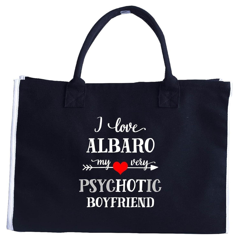 I Love Albaro My Very Psychotic Boyfriend. Gift For Her - Fashion Tote Bag