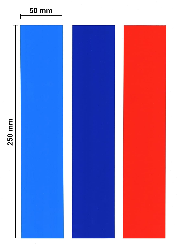 Strisce adesive azzurro, blu scuro e rosso API Parts
