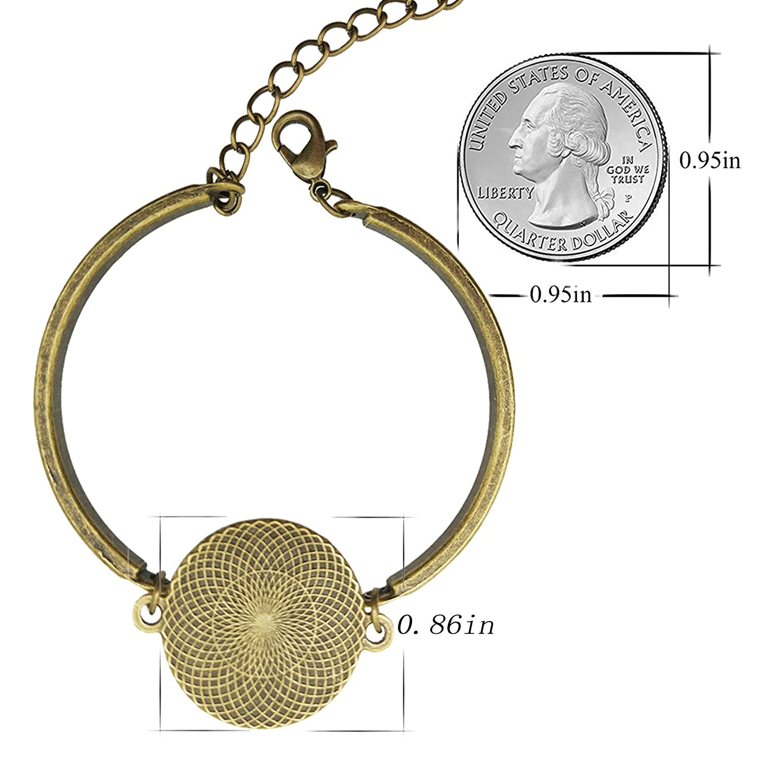 LAROK WAZZIT Adjustable Bangle Bracelet Help Im in Love with a Fictional Character Book Club with Round Charm Glass Pendant for Women Girls Gift