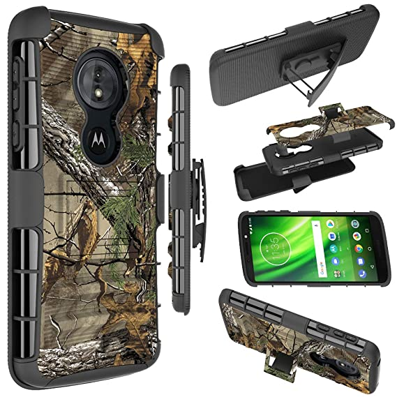Moto G6 Play Case,Moto G6 Forge case, Zoeirc Shock Proof Dual Layer Protective Case Cover with Kickstand & Belt Clip Holster for Motorola Moto G6 ...