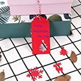 Christmas Gift Tags with Holes Red Tag Paper
