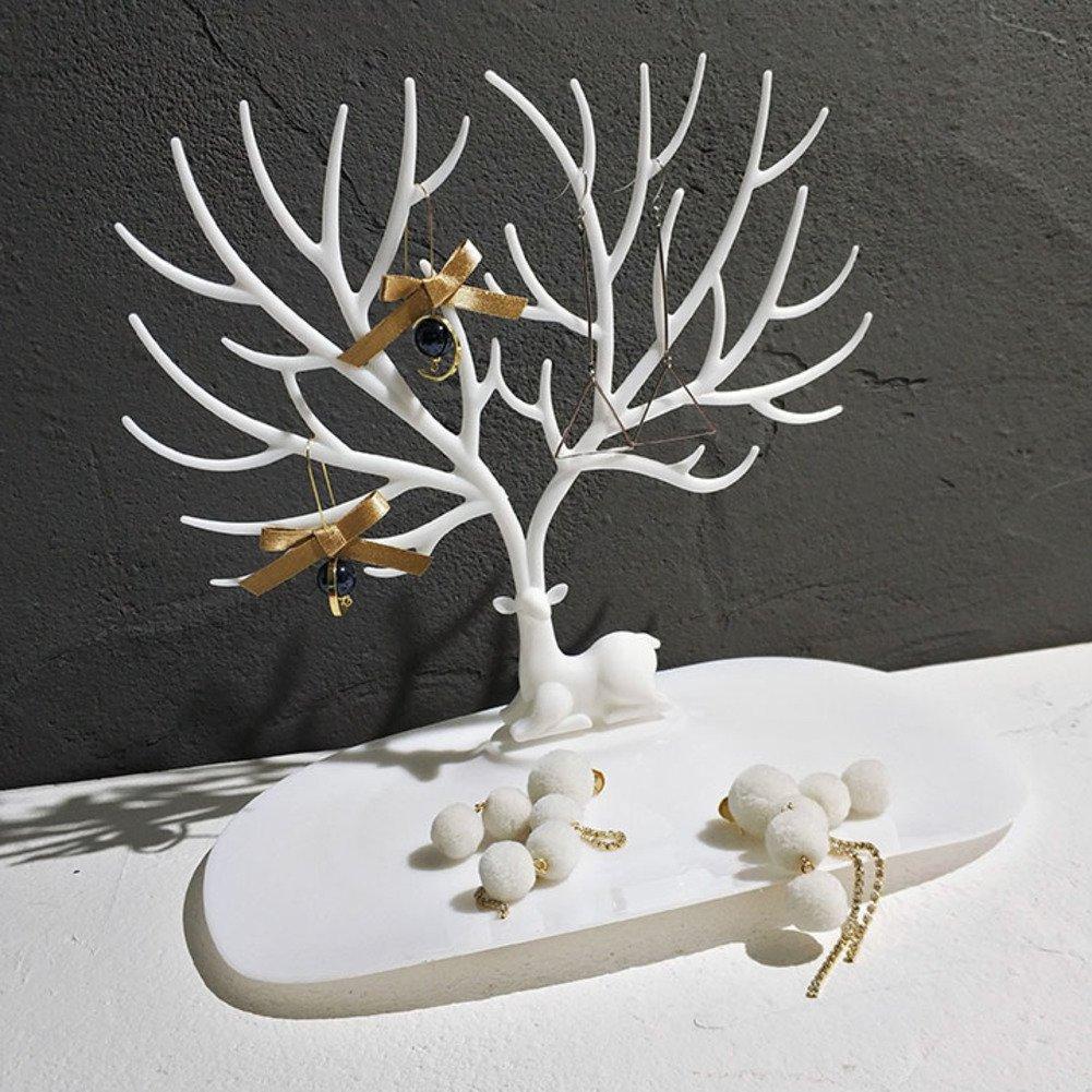 EFGUFHC Simple Creative Fawn,Tree, Display,Jewelry stand Necklace,Stud earrings,Earrings,Shelf jewelry box-C