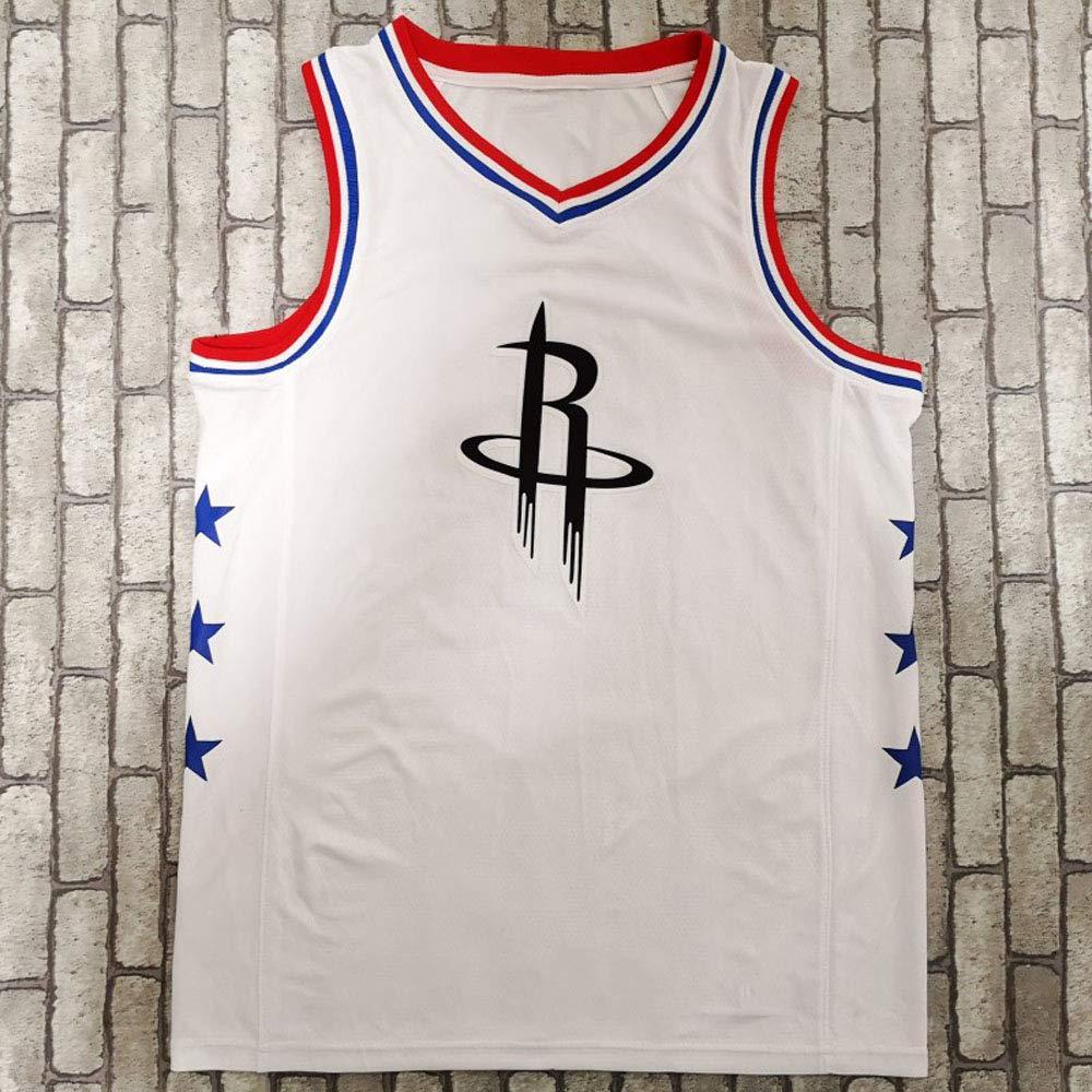 HGsports 2019 All-Star Houston Rockets Jersey Harden #13 Basketball Sports,Casual Vest White\Black