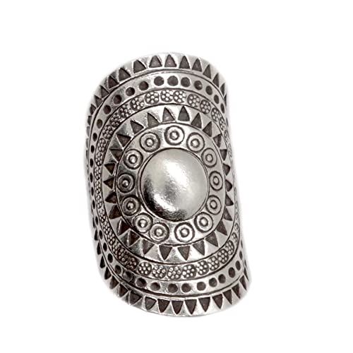 Amazon.com: Sterling Silver Solar Mandala Boho Long ...