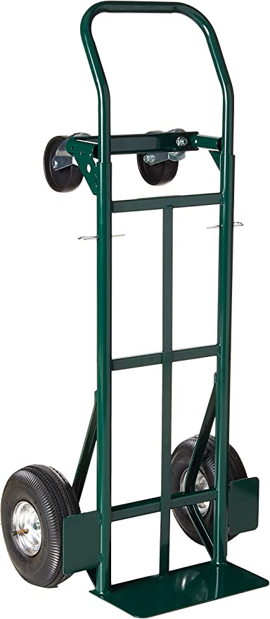 Harper Trucks 700 lb Capacity Glass Filled Nylon Convertible Hand Truck and Dolly with 10 Pneumatic Wheels