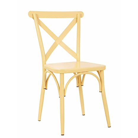 Cool Rustic Cross Back Metal Modern Farmhouse Dining Chair Matte Pastel Tan Ncnpc Chair Design For Home Ncnpcorg