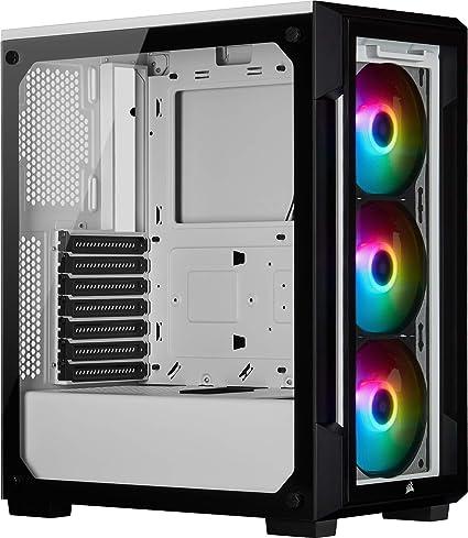 Corsair iCUE 220T RGB, Chasis Semitorre Inteligente ATX con ...