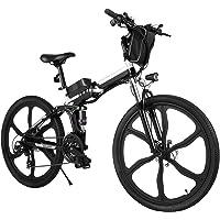 """Bicicleta Eléctrica E-Bike Plegable, Bicicleta Eléctrica de 26"""" para Hombres de 250W con batería extraíble de 8Ah…"""